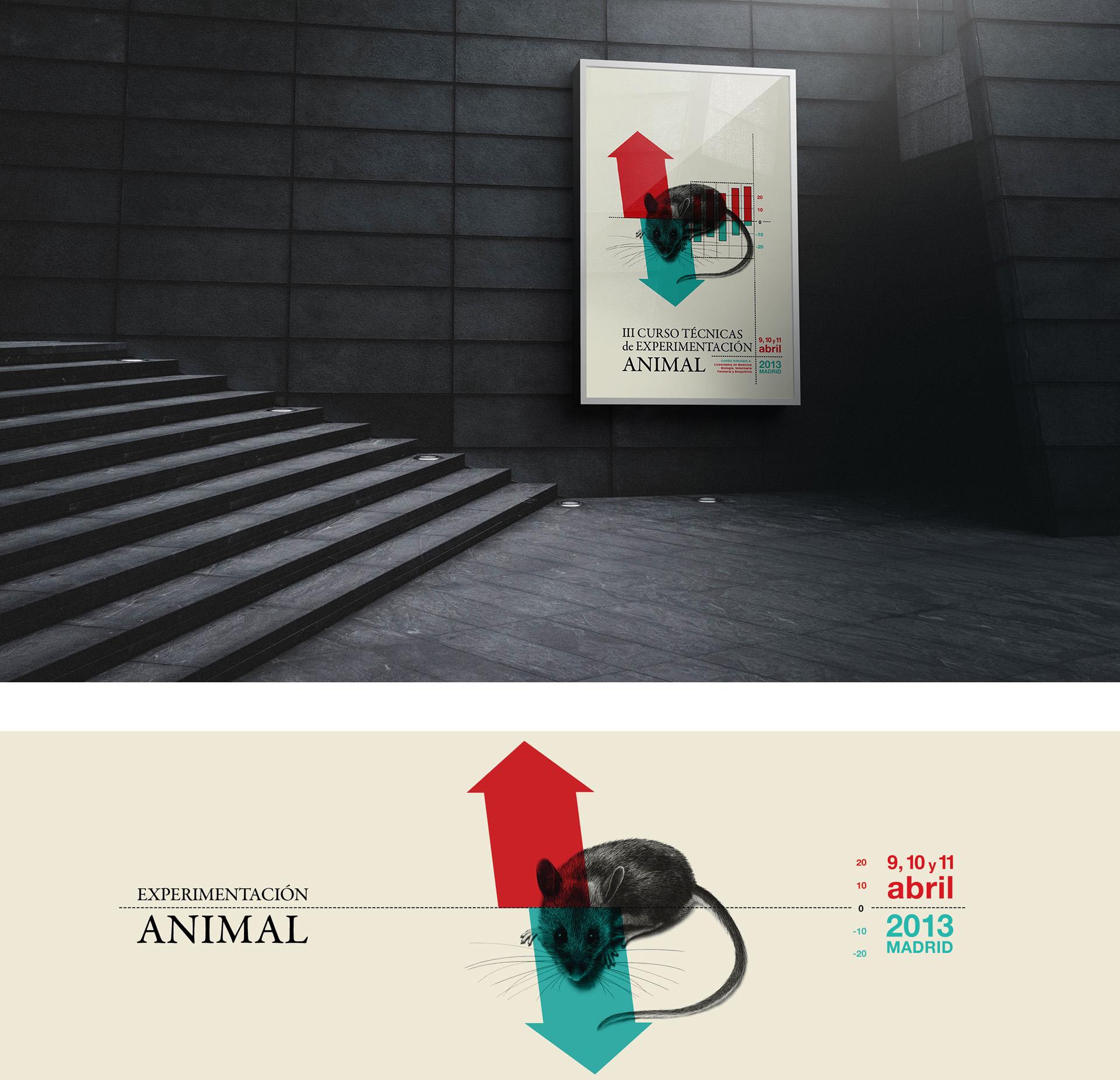 diseño corporativo cartel experimentacion animal susana cid
