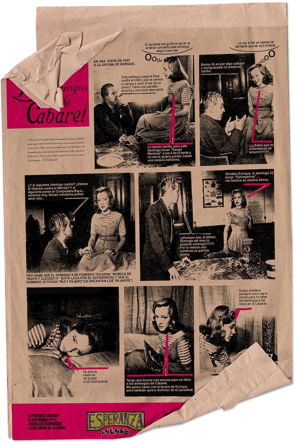 cartel diseño corporativo cabaret susana cid