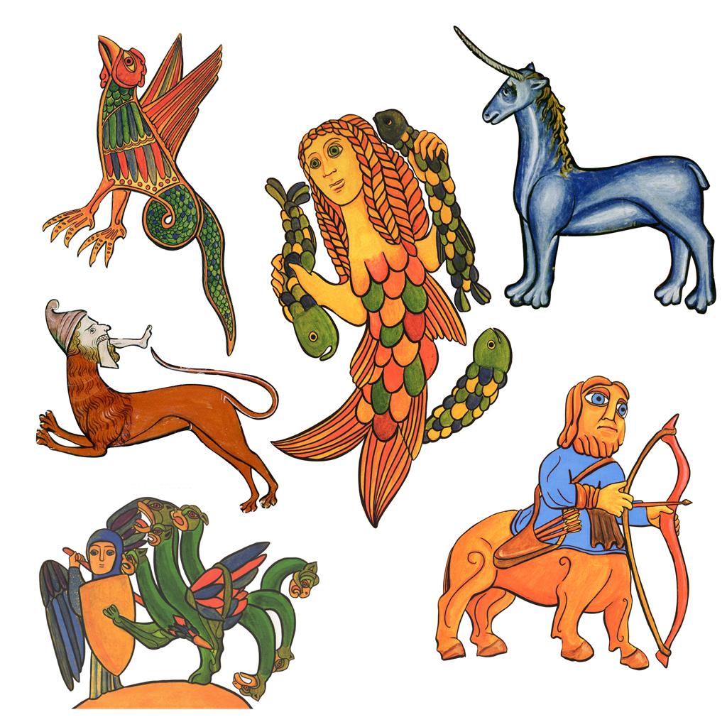 animales medievales curso niños arte