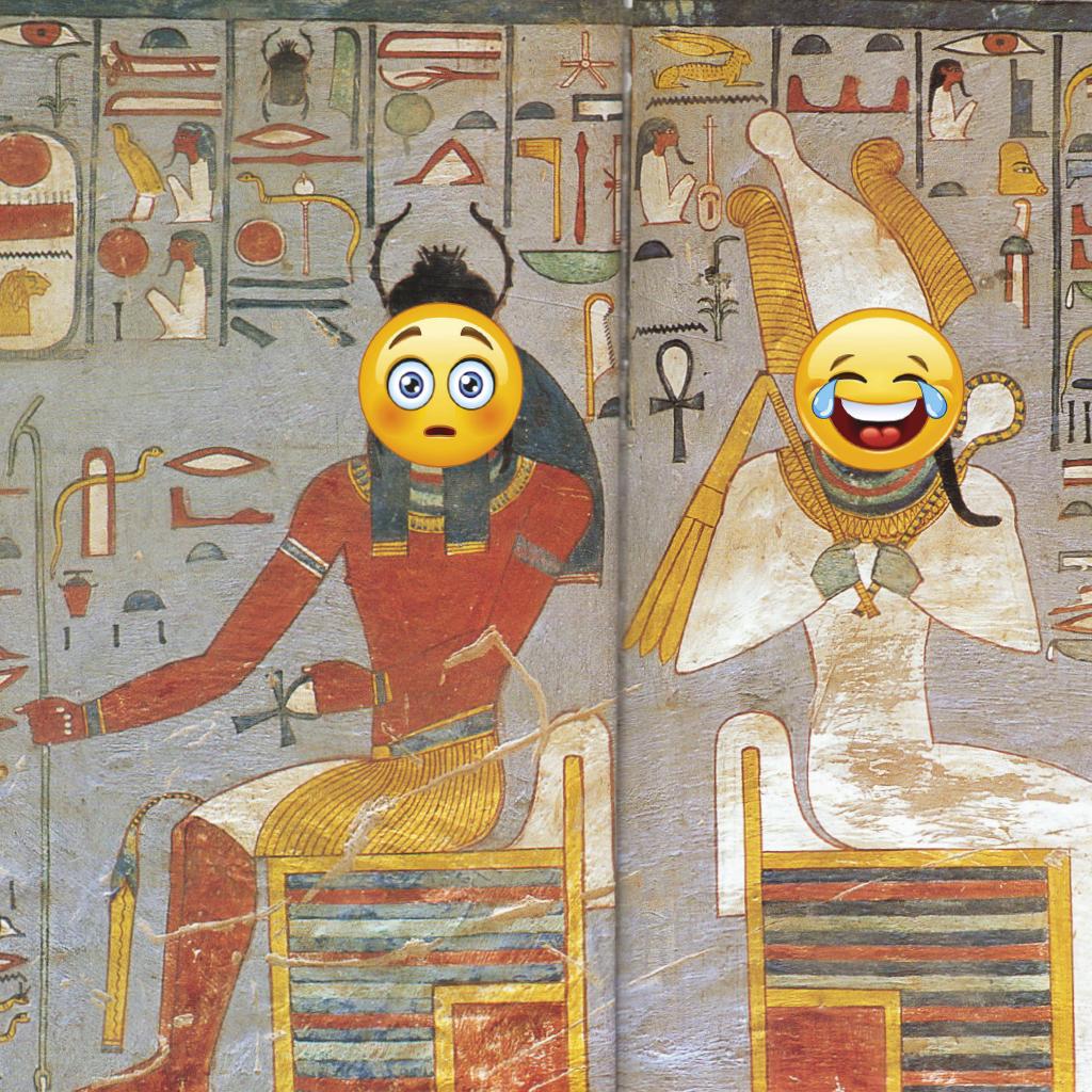 Curso arte jeroglificos egipto versus emoticonos